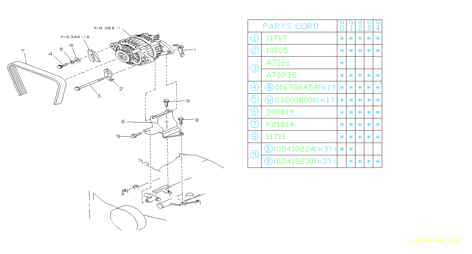 Subaru Legacy Bracket Complete