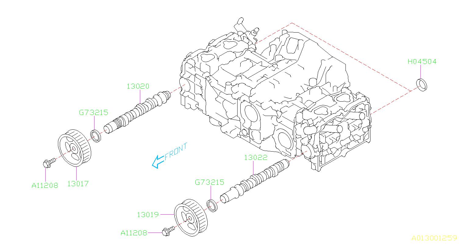 Subaru Outback Engine Timing Camshaft Sprocket  Belt  Cooling  Complete