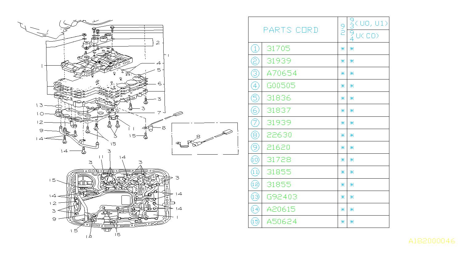Subaru Svx Gasket Separator   Upper    361672