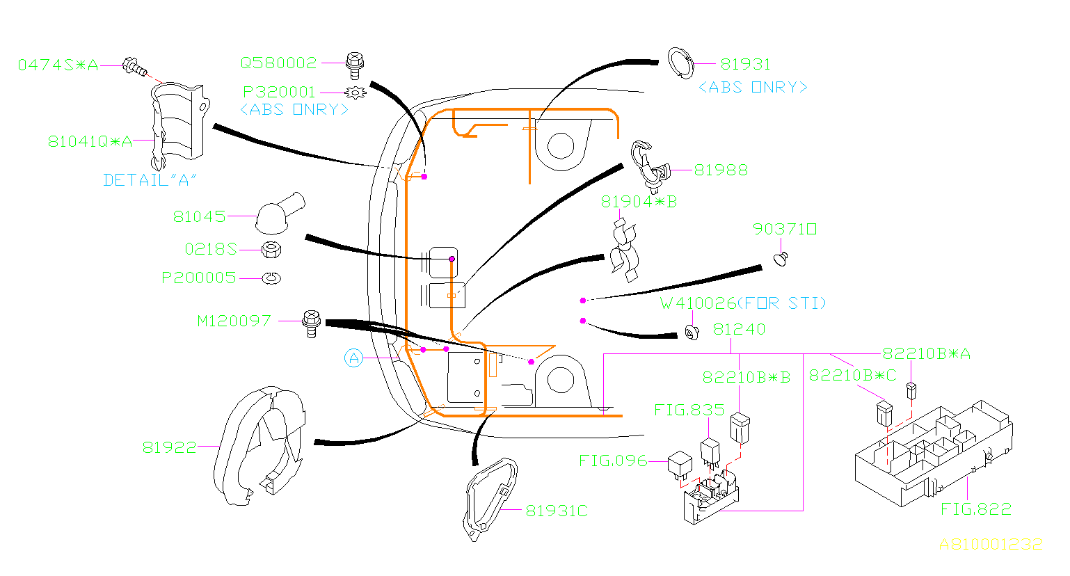 Subaru Wrx Clamp  Wiring  Main  Harness  Front  Electrical