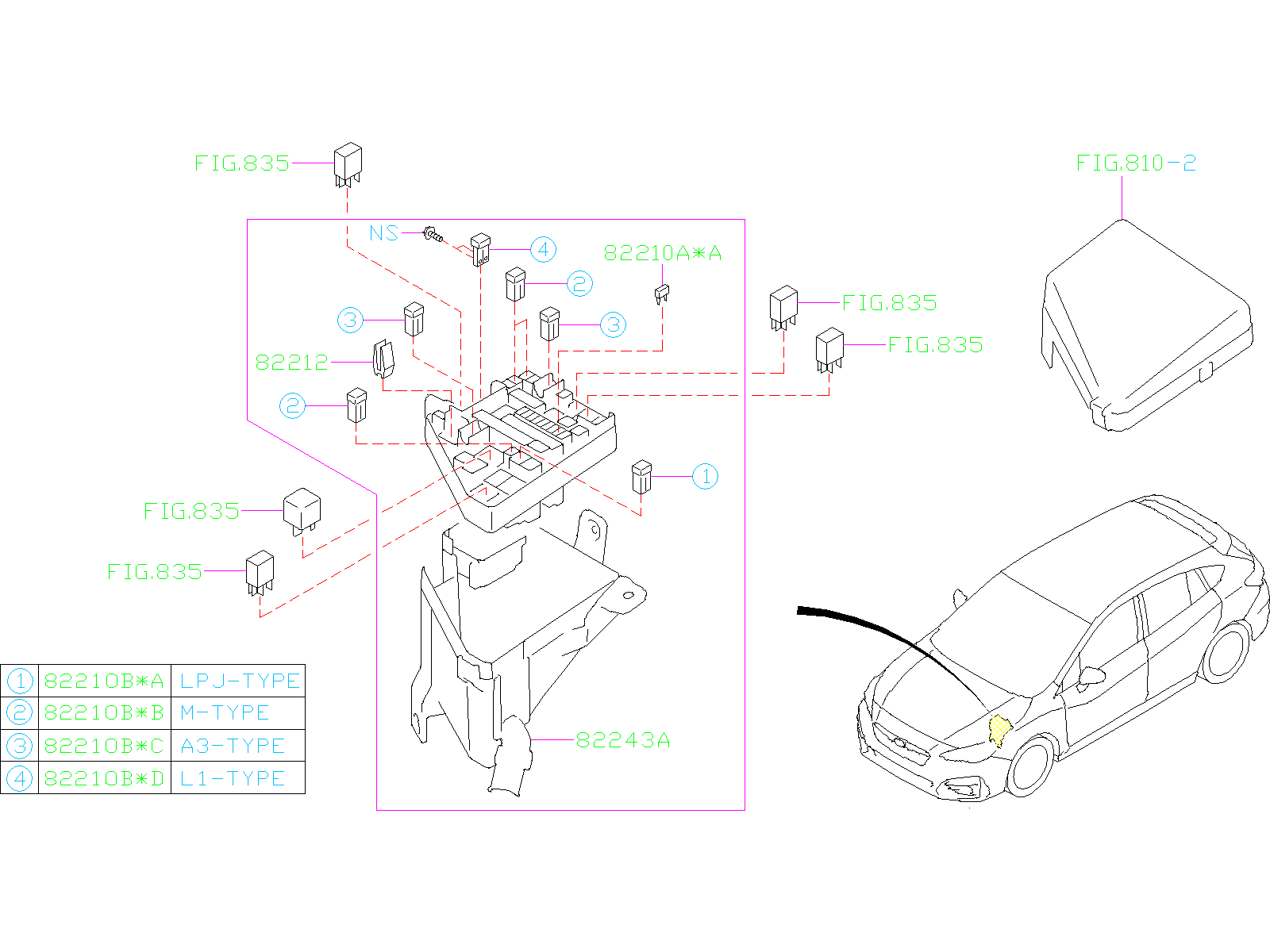 Subaru Impreza Cover Fuse Box Under  Fuse Box Cover Dw