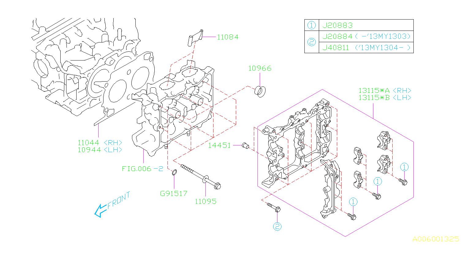 10944AA070     Subaru    Gasketcylinder head 2 System  engine