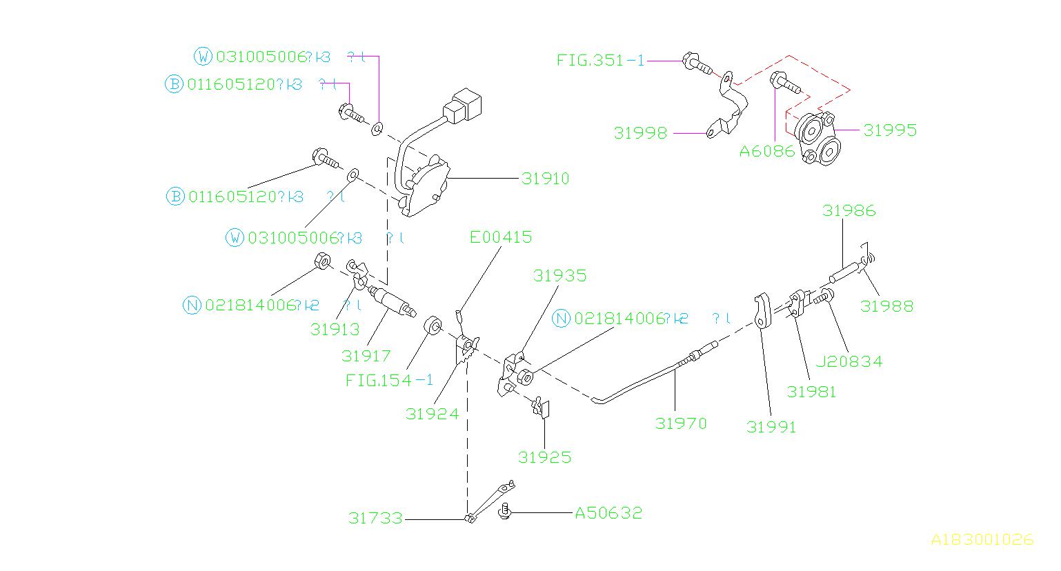 Subaru Forester Automatic Transmission Gear Position Sensor