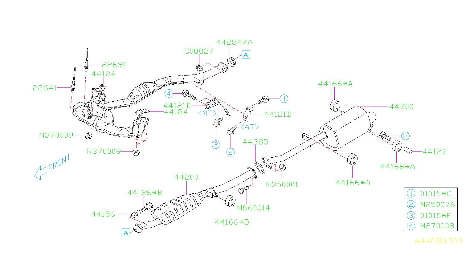 Subaru Forester Exhaust System Hanger  Muffler