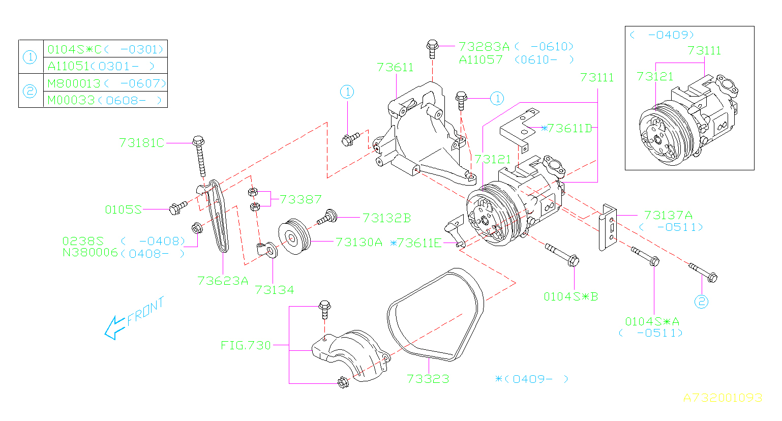 Subaru Forester A  C Compressor Clutch  Conditioning