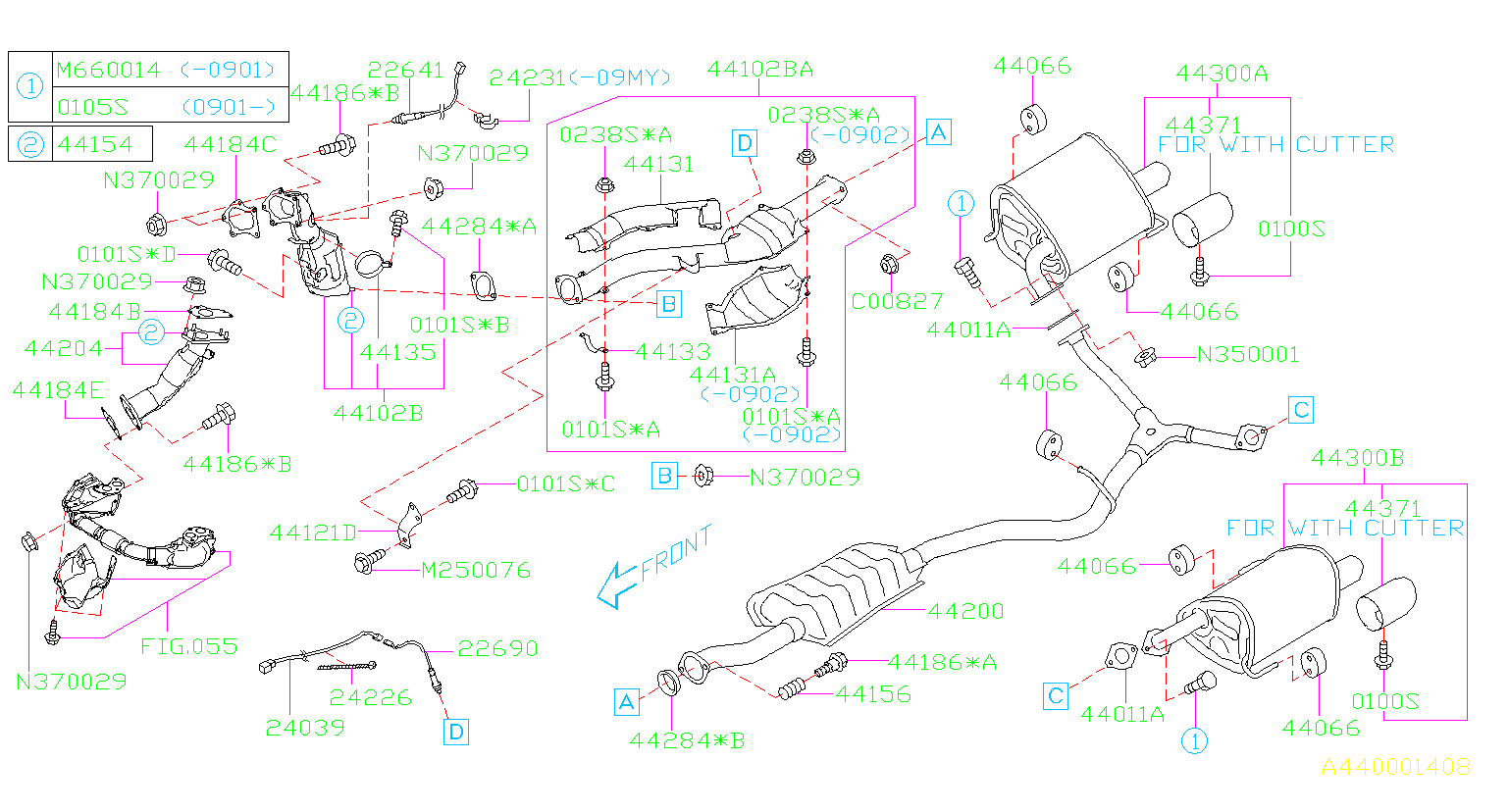 Subaru Forester Turbocharger Gasket  Outlet   Gasket