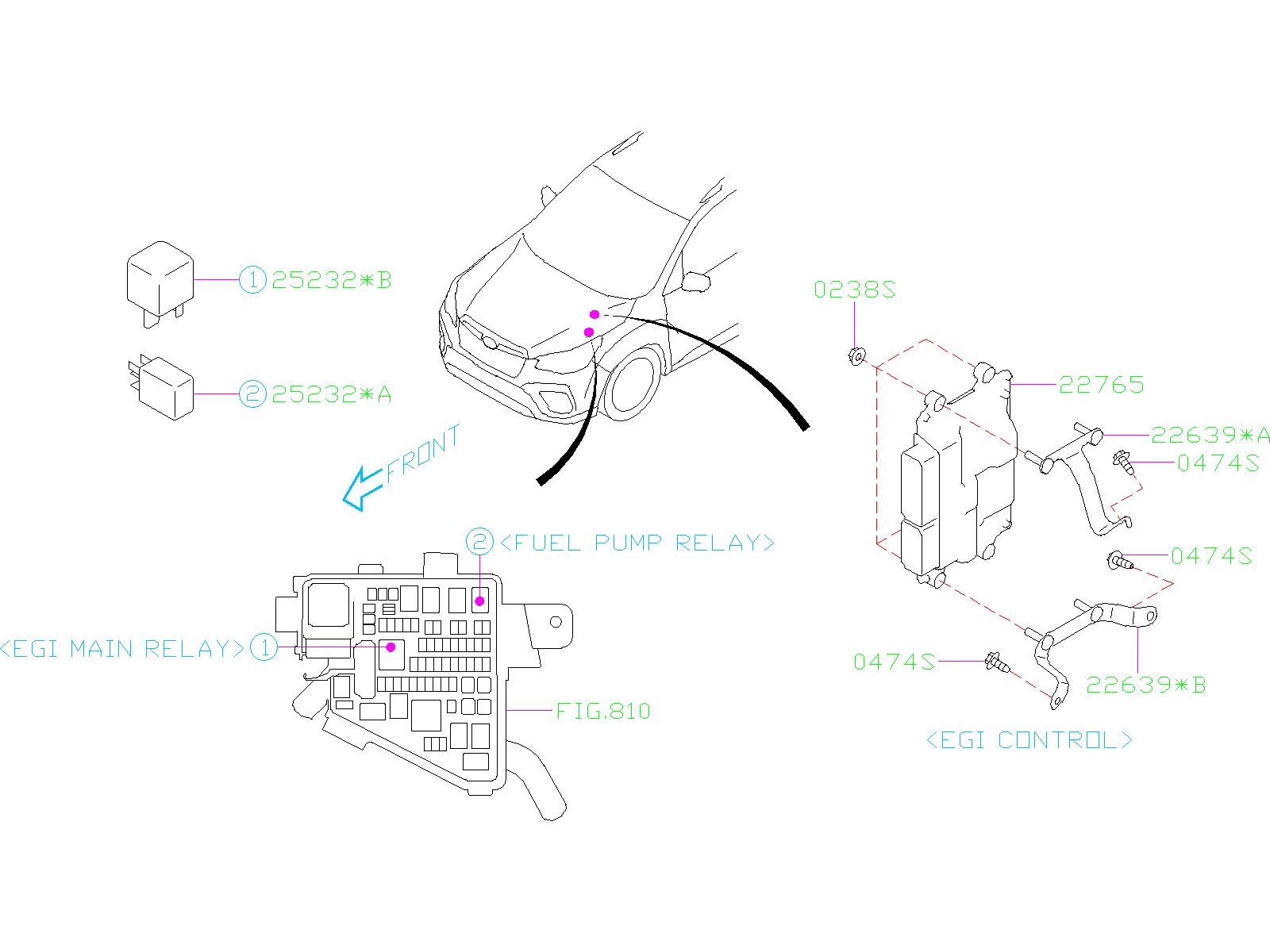 Subaru Forester Fuel Pump Relay. ENGINE, SENSOR ...