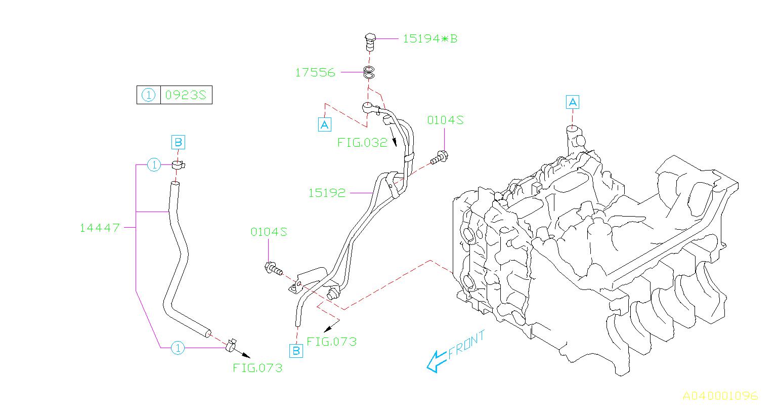 Subaru Wrx Turbocharger Oil Line  Engine  Make