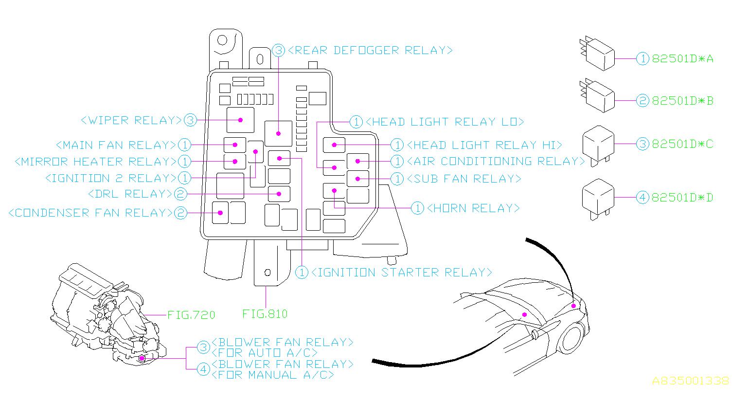 Subaru Brz Accessory Power Relay  Fuse  Box  Electrical