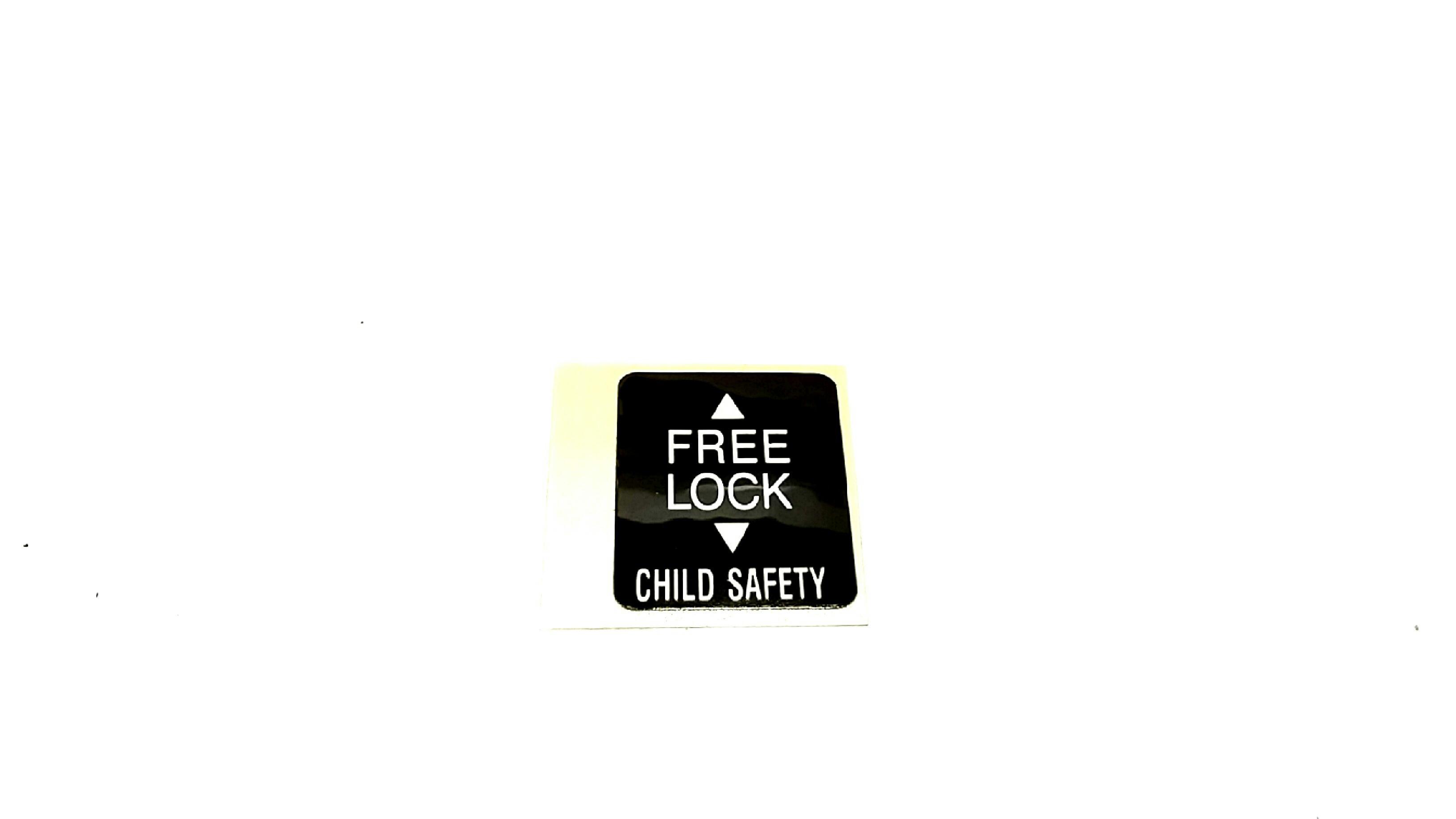 Subaru Legacy Label Child Lock Door Rear Latch
